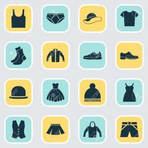 Arc-en-Sed-ensemble-d-icônes-de-vêtements